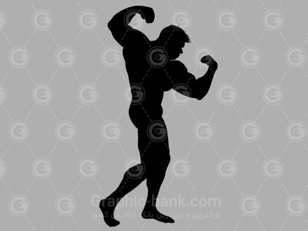 وکتور مرد بدنساز