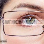 تصویر چشم با عینک
