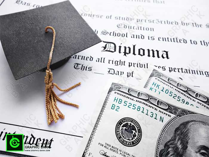 تصویر دلار و کلاه دانش