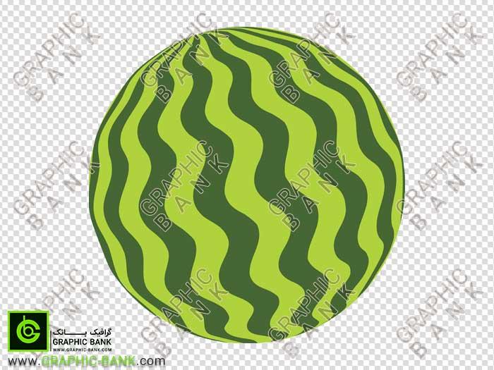 تصویر png هندوانه کارتونی
