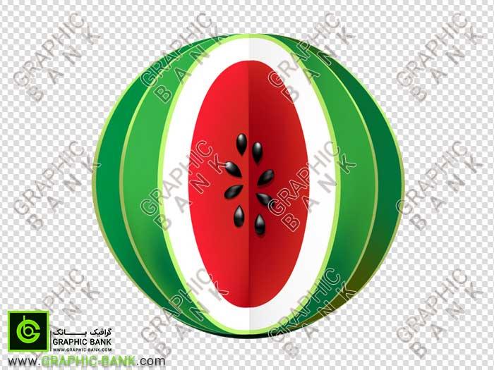 تصویر png هندوانه قاچ شده
