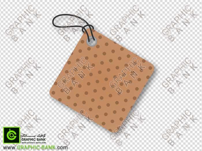 اتیکت مربعی آویز کارتنی