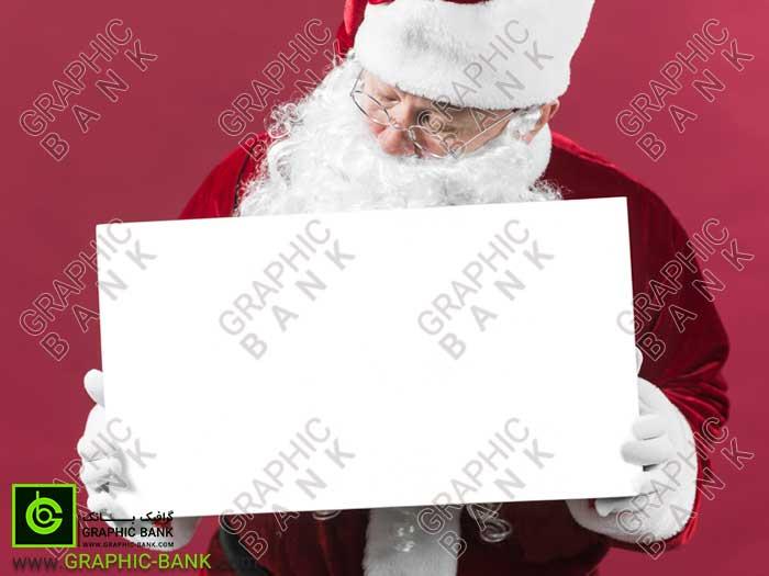 تصویر بابا نوئل کادر به دست