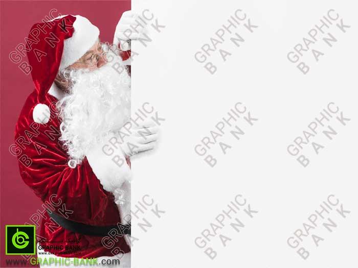 تصویر بابا نوئل کنار کادر
