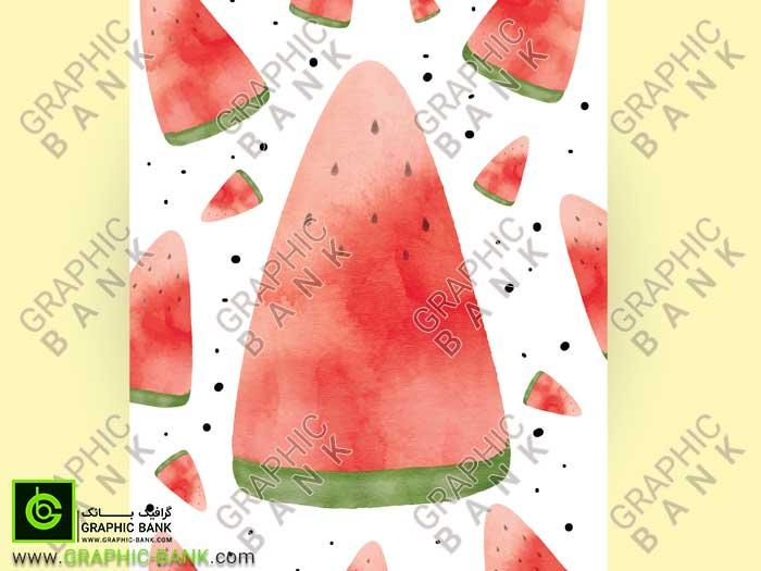 وکتور برش های کارتونی هندوانه