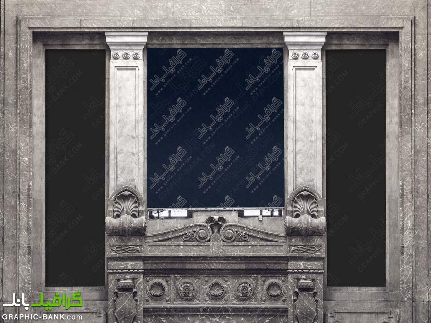 موکاپ پوستر بین دو پنجره