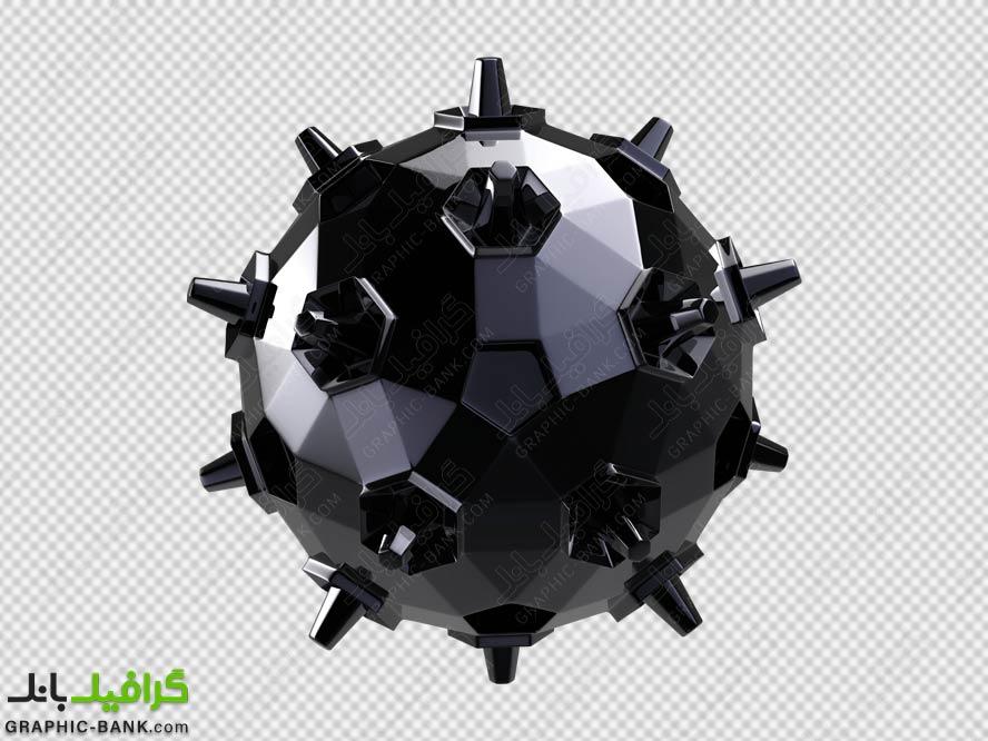 تصویر ویروس سه بعدی png