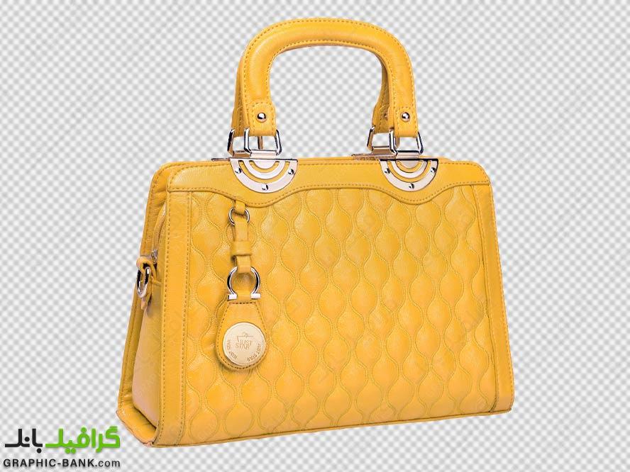 کیف زرد زنانه png