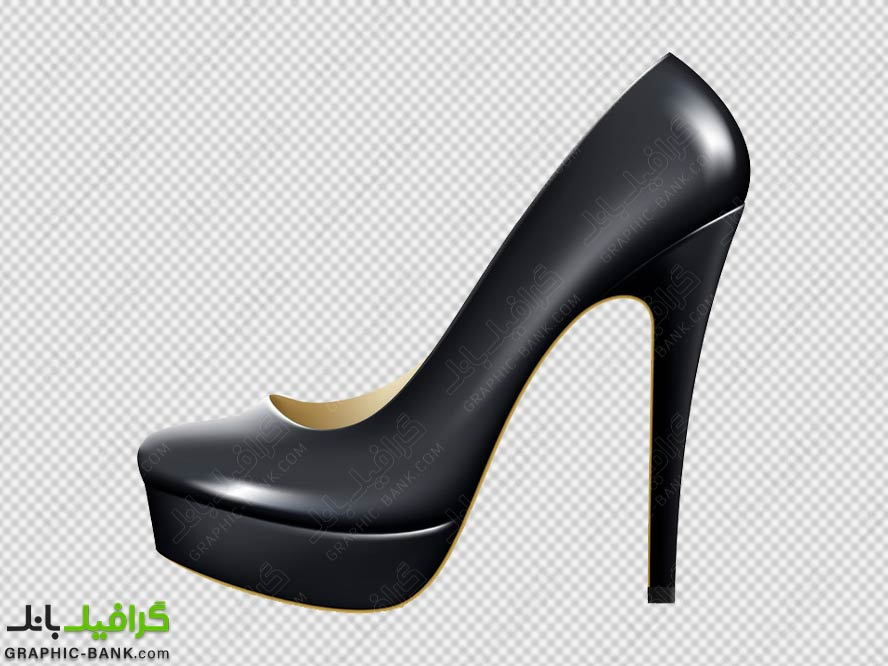 تصویر کارتنی کفش مجلسی زنانه png