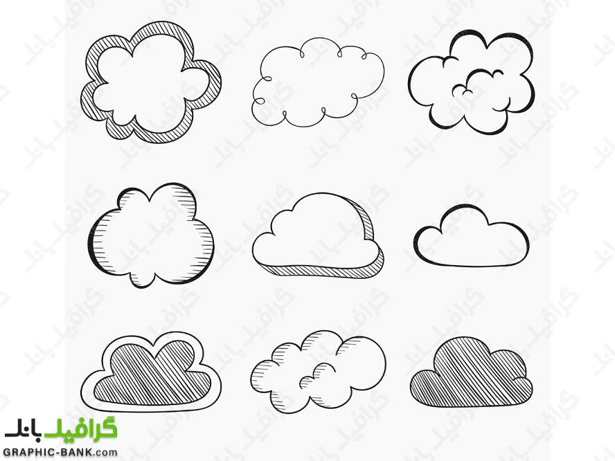 وکتور ابر های فانتزی