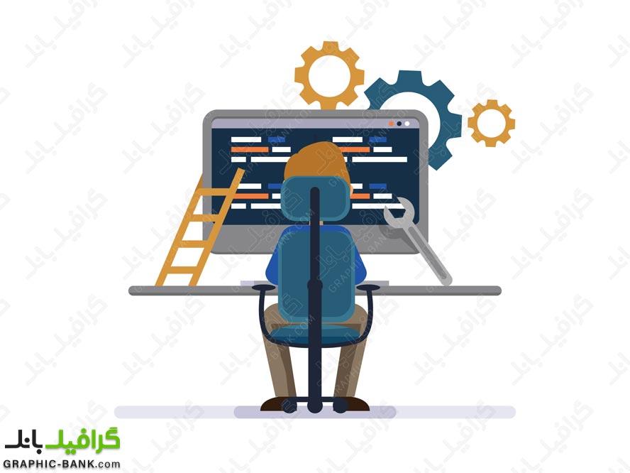 وکتور خدمات کامپیوتری