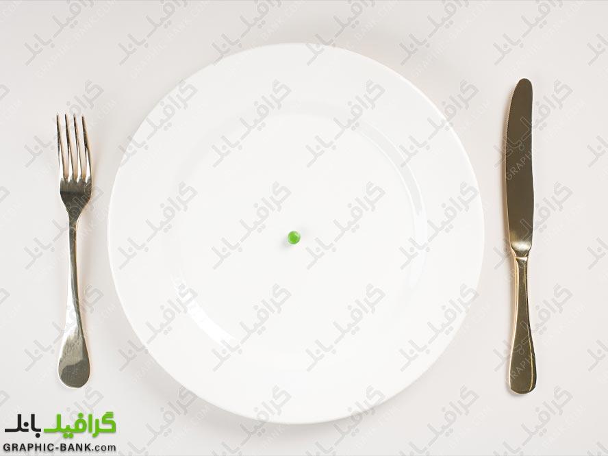 تصویر ظرف غذا بشقاب