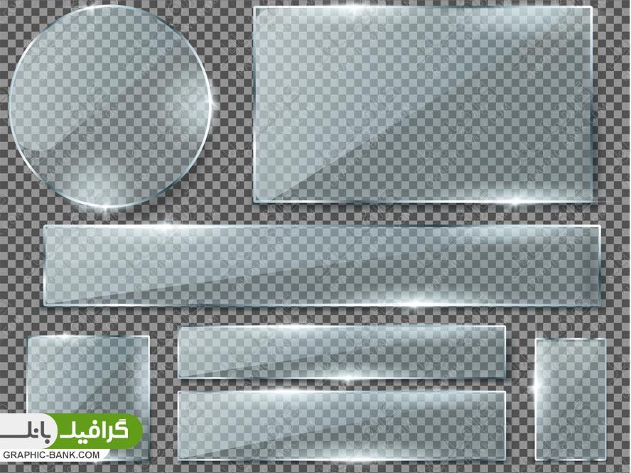 وکتور اشکال مختلف شیشه