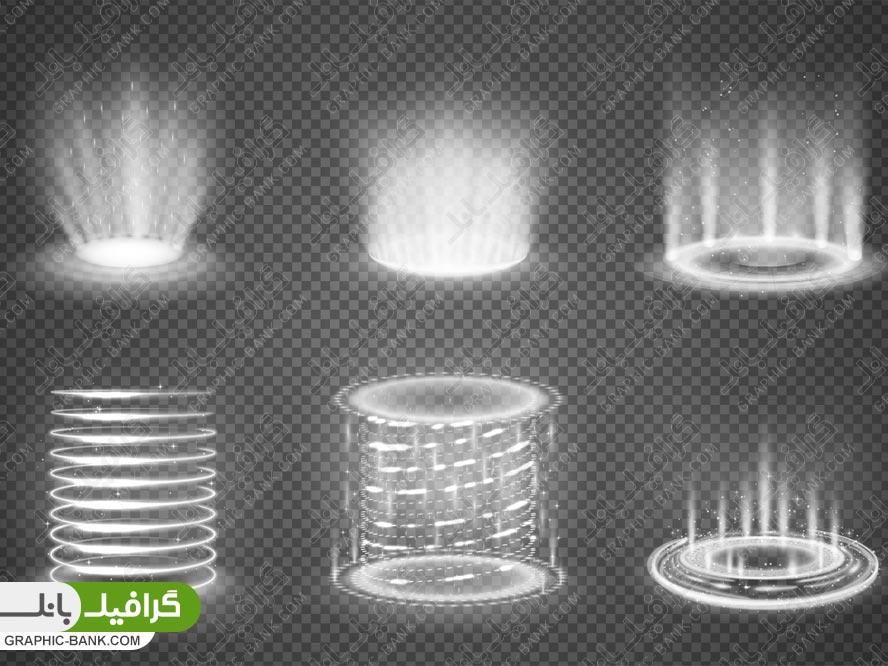 وکتور افکت های نوری دایره