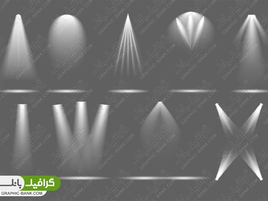 وکتور انواع نور چراغی