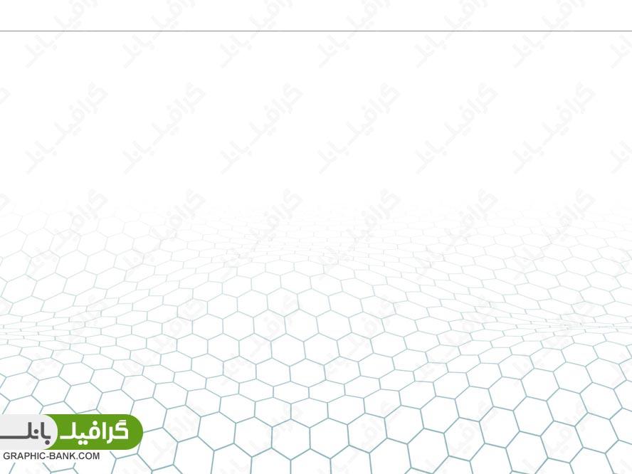وکتور بکراند سفید با طرح شش ضلعی