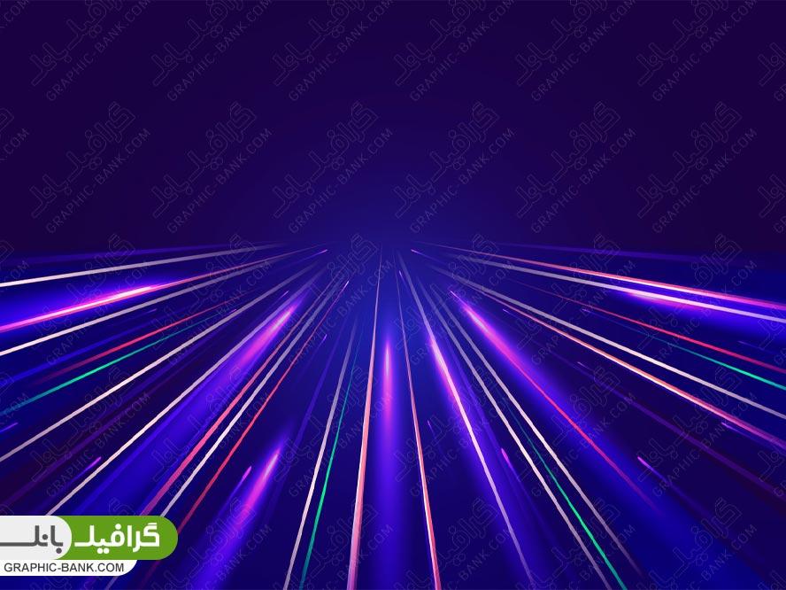 وکتور بکراند آبی با نور سرعت